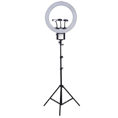 Powerful 13 Inch (70w) Video Selfie Led Ring Light for Smartphones - (Live Videos, Podcast, Insta Light)