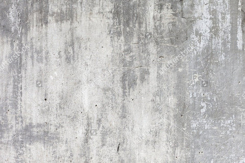 Grunge White Concrete Wall Indelible Print Fabric Backdrop