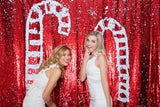 White/Red Mermaid Sequin Backdrops