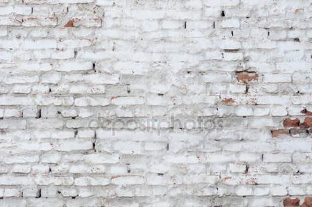 Old White Brick Wall Texture Indelible Print Fabric Backdrop