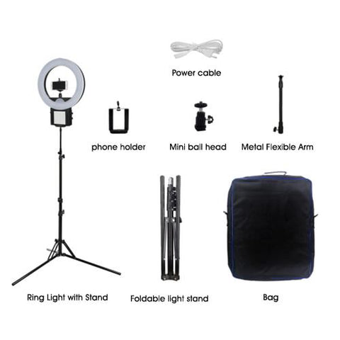 Studio Photography Makeup Dimmable 18 Inch (90w) Led Circle Ring Light lamp (For Live Videos)