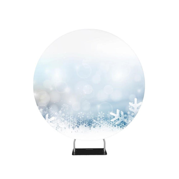 Snow Christmas Winter Background Circle backdrop stand