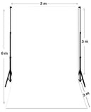 3M X 6M White Photography Backdrop Plus Stand