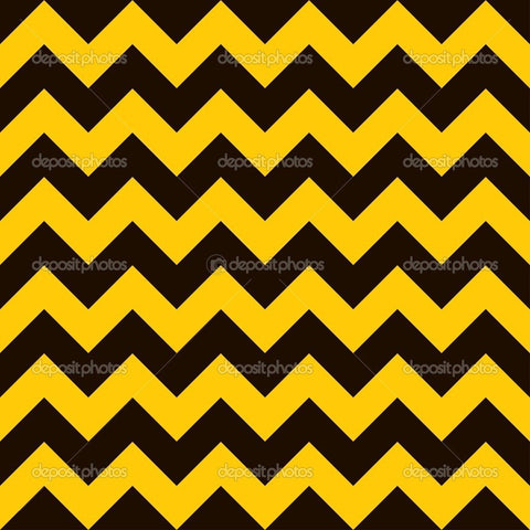 Yellow and Black Warning Chevron Indelible Print Fabric Backdrop
