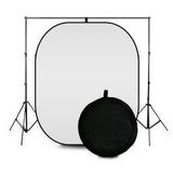 Collapsible Black And White Pop Up Backdrop (1.5m x 2.1m)