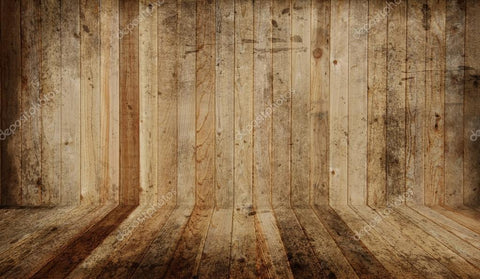 Western Barn Wooden Wall Print Photography Backdrop