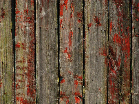Vintage Red Wooden Wall Print Photography Backdrop