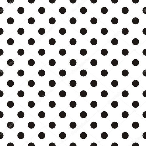 Black Polka Dots on White Background Print Photography Backdrop