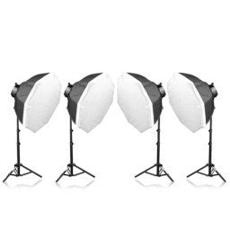 4 Head Powerful 5 Lamp Video Light Kit Equipment