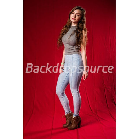 Solid Red Photography Fashion Muslin Backdrop