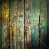 Distressed Green Wood Theme Indelible Print Fabric Backdrop