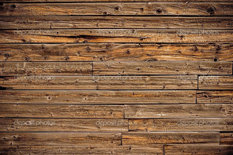 Plank Distressed Wood Theme Indelible Print Fabric Backdrop