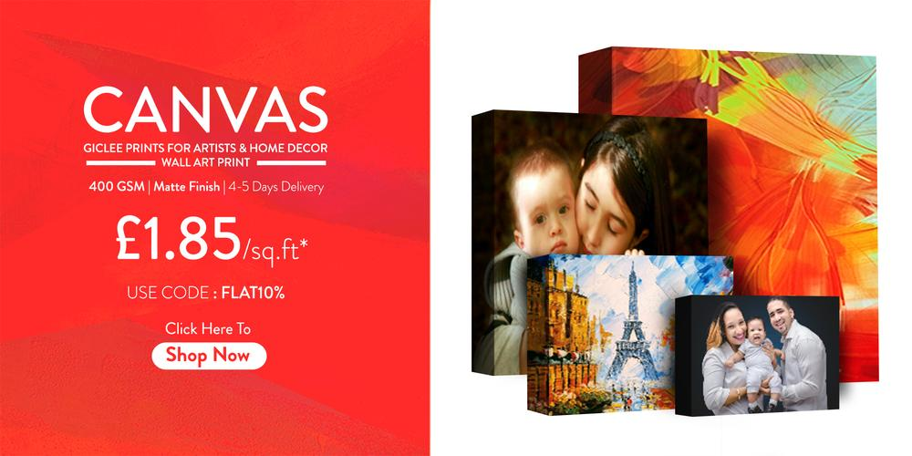 Personalized Canvas Fine Art Printing - Your Custom Design