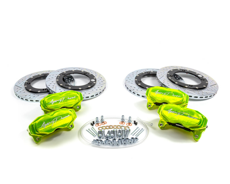 Agency Power Big Brake Kit Front and Rear Monster Green Can-Am Maverick X3