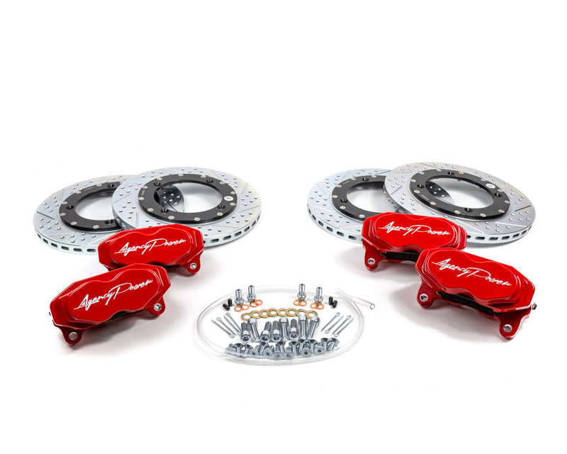 Agency Power Big Brake Kit Front and Rear Red Can-Am Maverick X3