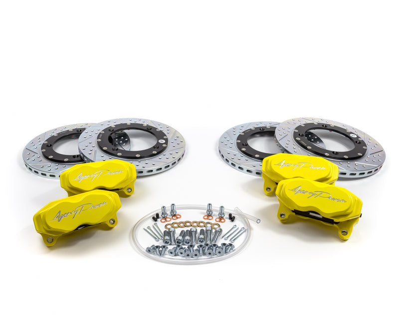 Agency Power Big Brake Kit Front and Rear Yellow Can-Am Maverick X3