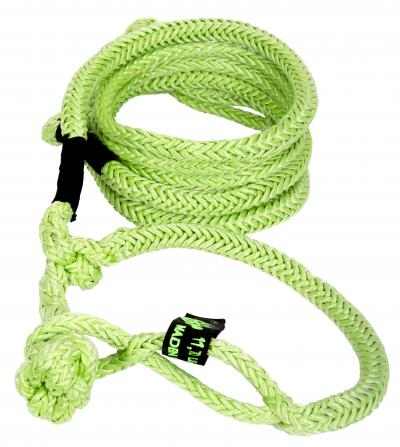 Winch Rope UTV 1/4 Inch x 50 Foot W/ Soft Shackle End Green VooDoo Offroad