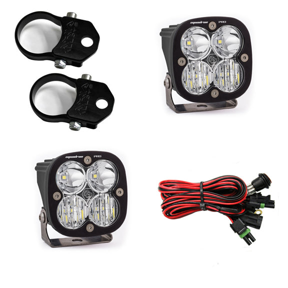 LED Light Pods Kit W/A Pillar Mounts 1.75 Inch Harness Squadron Pro Baja Designs