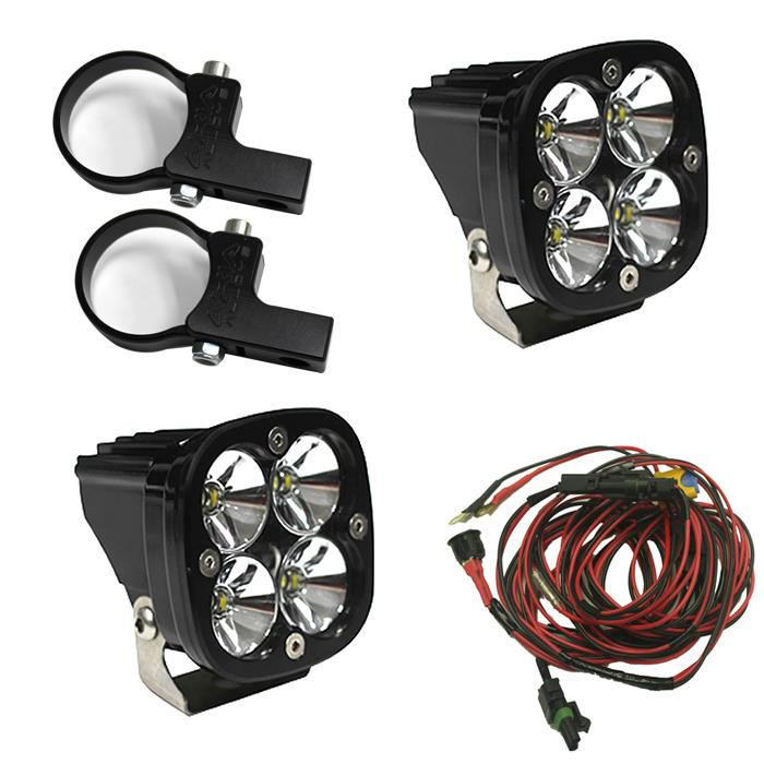 LED Light Pods Kit W/Horiz Mounts 2.00 Inch Harness Squadron Pro Baja Designs