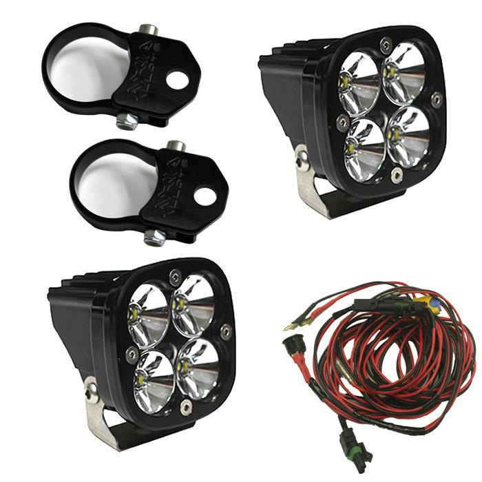 LED Light Pods Kit W/Vertical Mounts 2.00 Inch Harness Squadron Pro Baja Designs