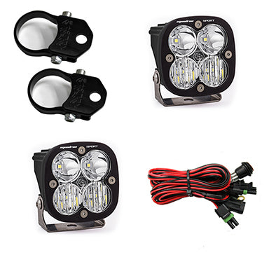Polaris LED Light Pods 1.75 Inch Harness A Pillar Mounts Kit Squadron Sport Baja Designs