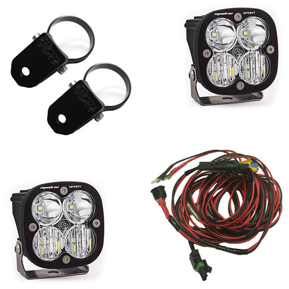 Polaris LED Light Pods 2 Inch Harness A Pillar Mounts Kit Squadron Sport Baja Designs