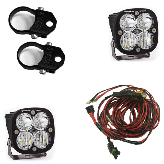 Polaris LED Light Pods 2 Inch Harness Vertical Mounts Kit Squadron Sport Baja Designs