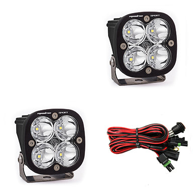 LED Light Pods Clear Lens Work/Scene Pair Squadron Sport Baja Designs