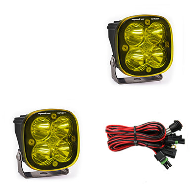 LED Light Pods Amber Lens Spot Pair Squadron Sport Baja Designs