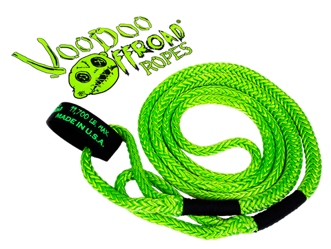 "1/2""  VooDoo Offroad loop style UTV and ATV Kinetic Recovery Rope 11,700lbs"