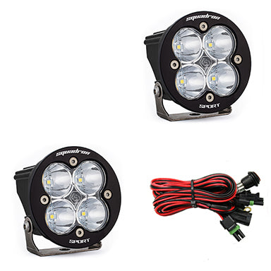 LED Light Pods Clear Lens Work/Scene Pair Squadron R Sport Baja Designs