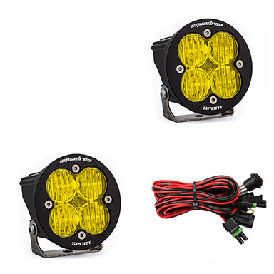 LED Light Pods Amber Lens Wide Cornering Pair Squadron R Sport Baja Designs