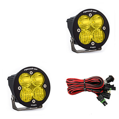 LED Light Pods Amber Lens Driving/Combo Pair Squadron R Pro Baja Designs