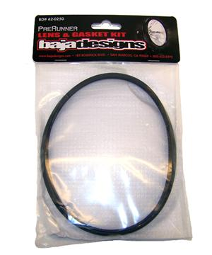 Lens and Gasket Kit For 6 Inch PreRunner Rock Guard Black Baja Designs