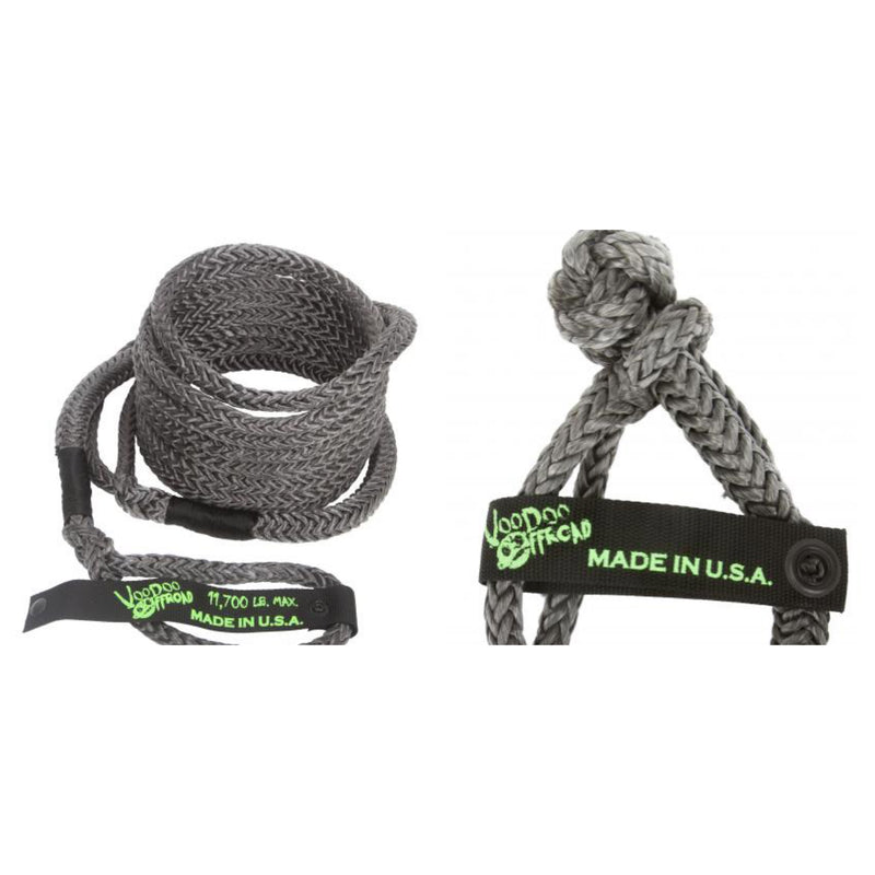 "Voodoo 1/2"" x 20 UTV recovery rope and pair 1/2"" shakle combo kits"