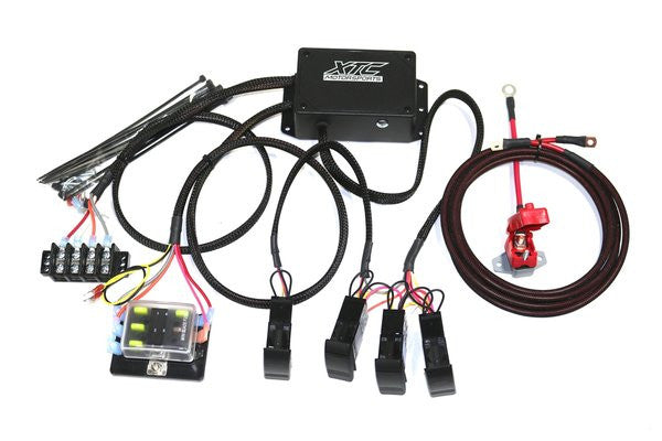 XTC Power Control System - 4 Switch, 4 Relays, Fuse Block - Power Cable