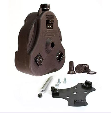 "Cam Can Complete Kit 1.5"" bar mount Black 2 gallon"