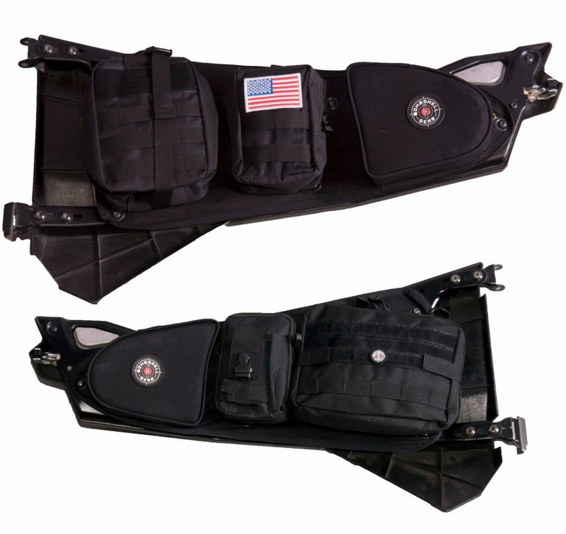 Bombshell Gear Door Bags w| MOLLE Pouches |Sold in Pairs| - Polaris RZR XP 1000 | XP Turbo | S 1000 | 900 | S 900
