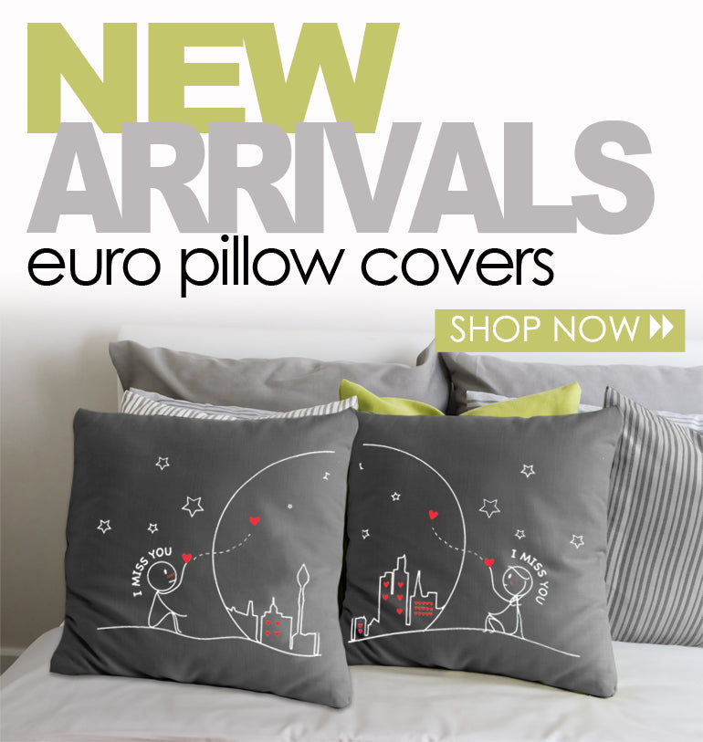 Euro Pillow COvers for Couples