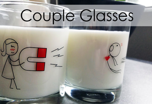 Boy Meets Girl Couple Drinking Glasses