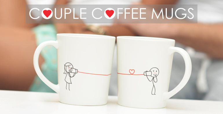 BoldLoft His & Hers Matching Couple Mugs