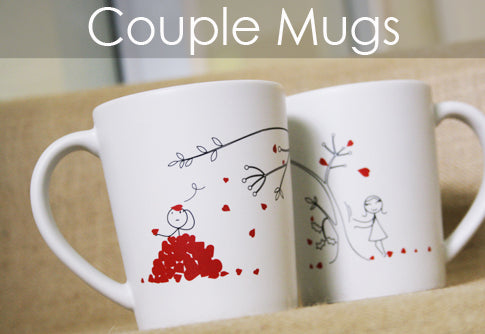 Boy Meets Girl Matching Couple Mugs