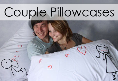 Boy Meets Girl Couple Pillowcases