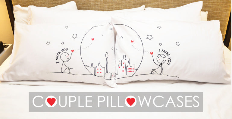 Cute Matching Pillow Cases : Couple Pillowcases,Love Pillowcases,His and Hers Pillowcases,Valentines Pillowcases-BoldLoft ...