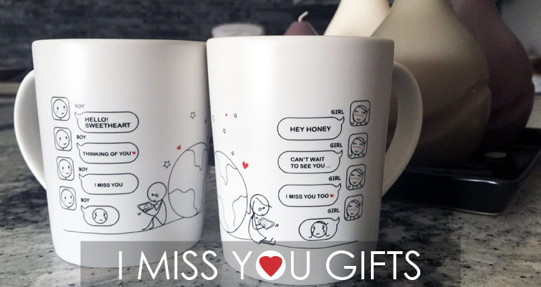 BoldLoft I Miss You Gifts for Long Distance Love Couples