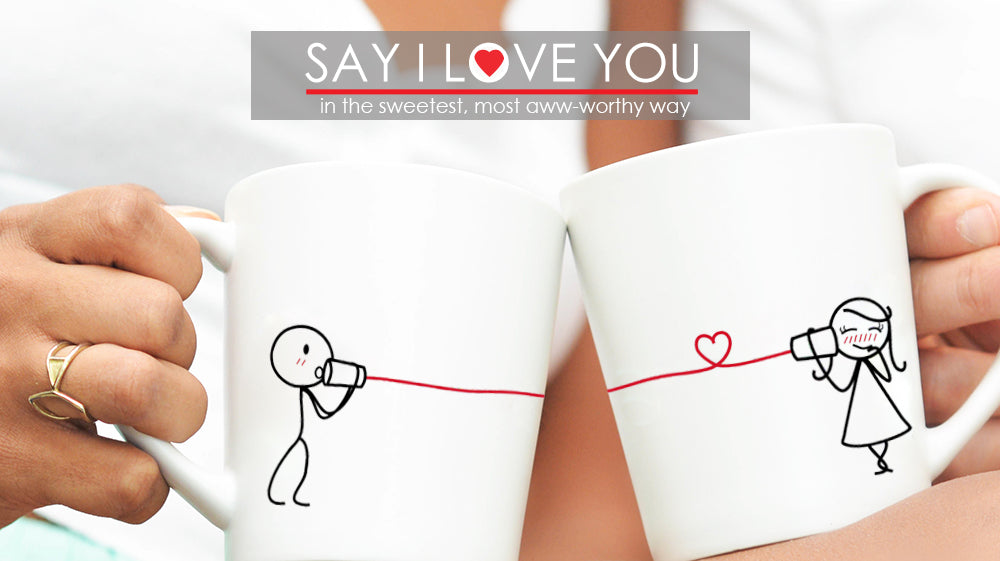BoldLoft Say I Love You Couple Mugs