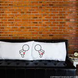 Lesbian Couple Wedding Gifts-A Kiss for You Lesbian Couple Pillowcase Set