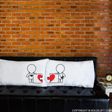 Lesbian Couple Wedding Gifts-Made for Each Other Lesbian Couple Pillowcase Set