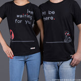 BoldLoft Love is on the Way Matching Couple Shirts Black