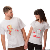 BoldLoft Keep Calm And Love Me Matching Couple Shirts